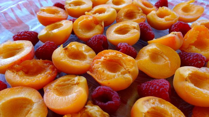 1-Gratin d'abricots et framboises 008