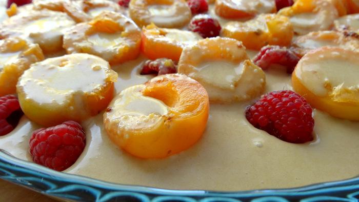 1-Gratin d'abricots et framboises 016