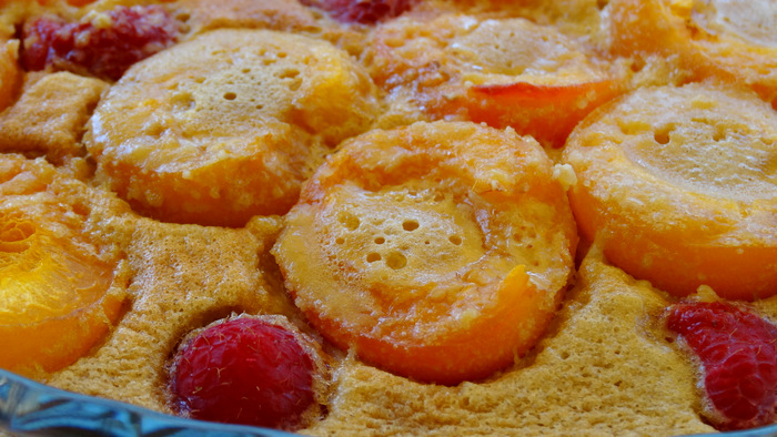 1-Gratin d'abricots et framboises 022
