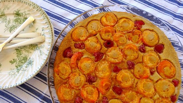 Gratin d'abricots et framboises 031